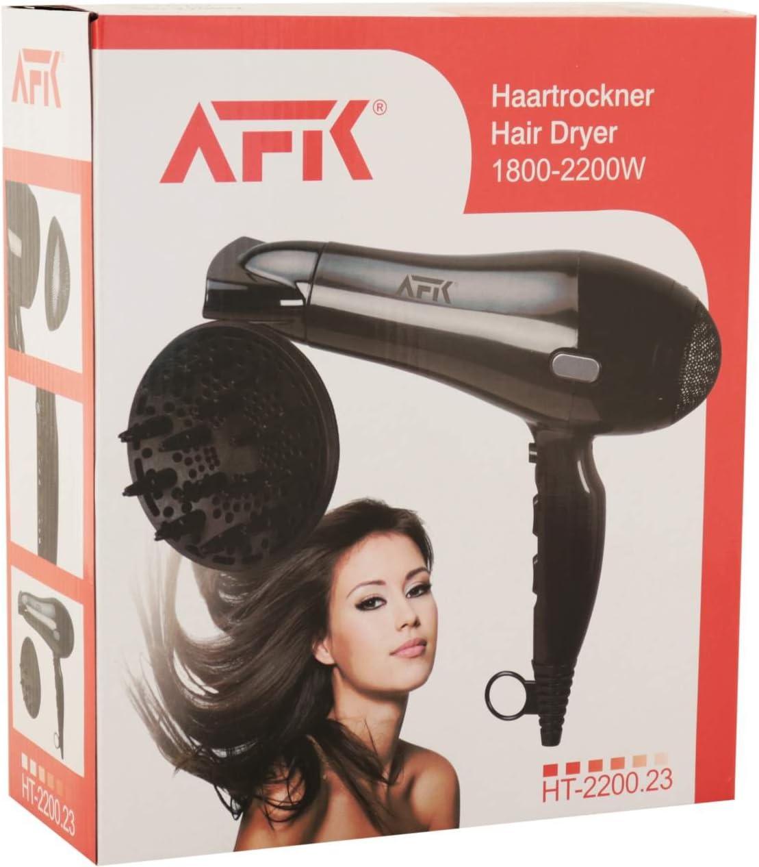 AFK HT 2200 d Noir Sèche cheveux avec diffuseur Sèche