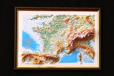 Amazon.com : France Map 3D Raised Relief Framed Map Amazing ... on eye earth, eye mind map, eye egypt, eye clock, home depot map, an old map,