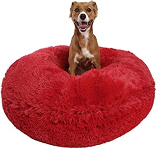 product image for Bessie and Barnie Signature Lipstick Luxury Shag Extra Plush Faux Fur Bagel Pet / Dog Bed (Multiple Sizes), L - 42""