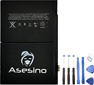 Asesino Battery Compatible with iPad Air 2, iPad 1 (6th Gen), 7340mAh, (A1547, A1566, A1567) with Replacement Toolkit