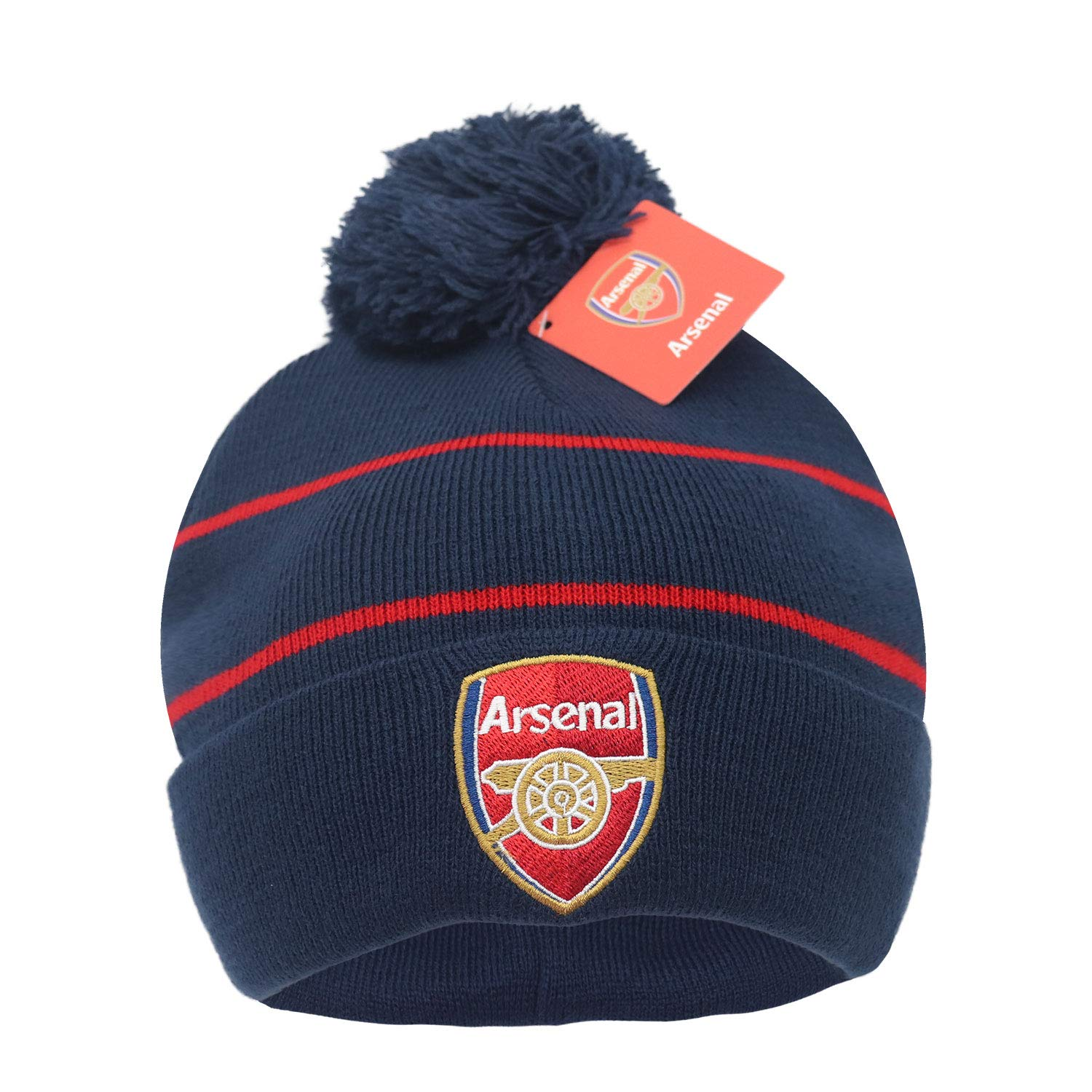 Arsenal FC Official Adults Knitted Soccer//Football Crest Winter Beanie Hat