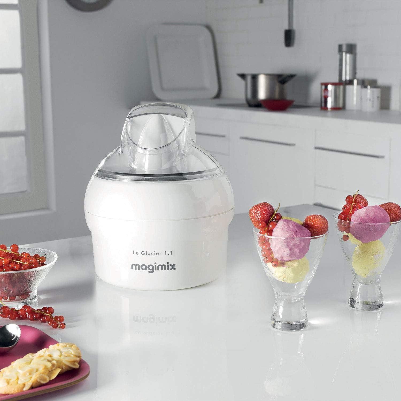 Blanc Magimix Le Glacier 1.1/D Ice Cream Maker