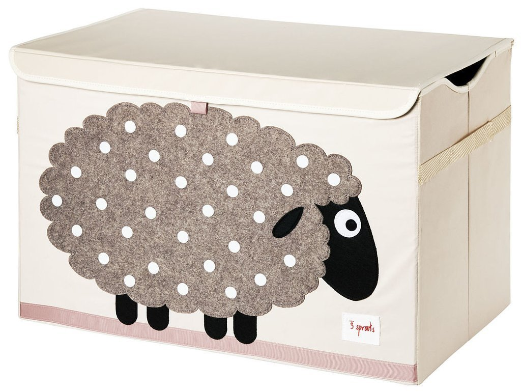 3 Sprouts Kids Toy Chest - Storage Trunk for Boys and Girls Room, Sheep 71FL6uFKEJL