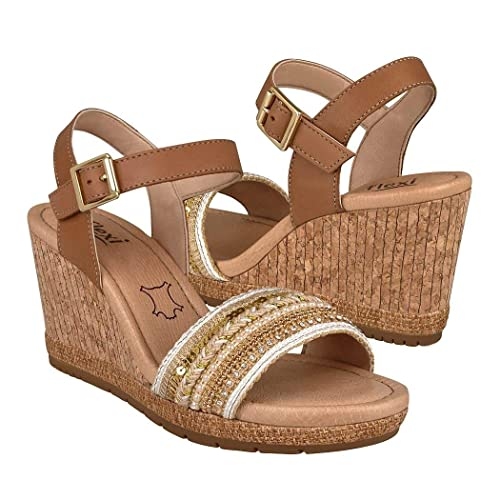 f33e4d15 Flexi- Sandalia Wedge Beige Sandalia para Mujer: Amazon.com.mx: Ropa ...