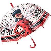 Chanos - Parapluie transparent Miraculous Rouge et noir