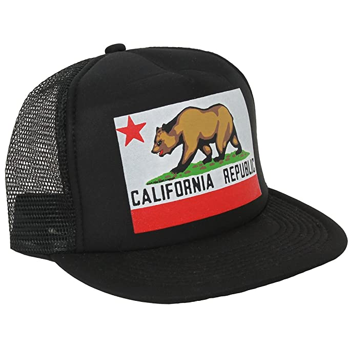 b0ba219adfc47 Image Unavailable. Image not available for. Color  California Republic  Original State Flag Snapback Hat On Black ...