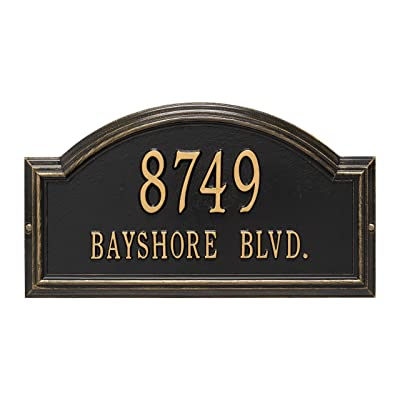 "Custom Providence Arch Wall Aluminum Address Plaque (2 Lines) 17""W x 9.5""H"