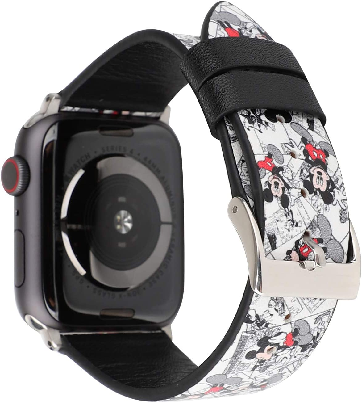Lovely Style Watch Band Strap Cute Dressy Leather Wristband Bracelet Compatible with 40mm 38mm Apple Watch SE/Series 6/5/4/3/2/1 (White)
