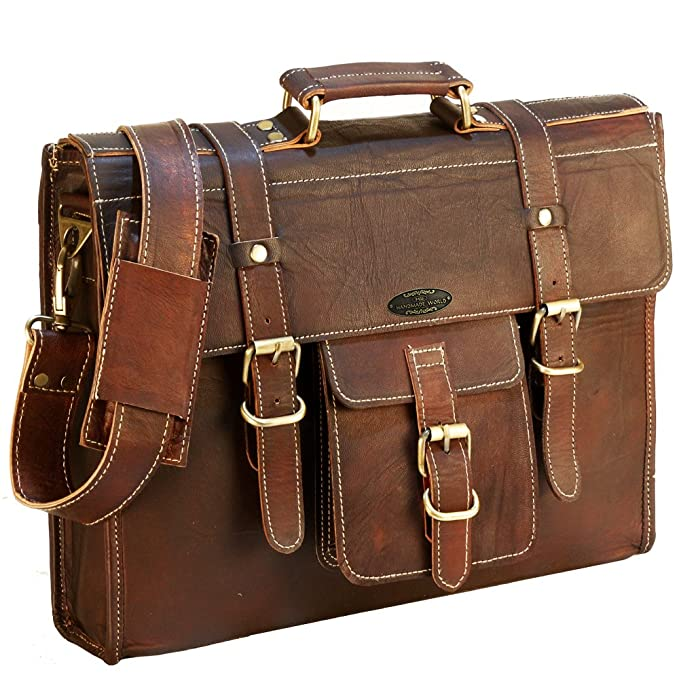 Leather Messenger Bag for Men Laptop Bag for Women 16 Inches | Briefcases Satchel Computer by Handmade World