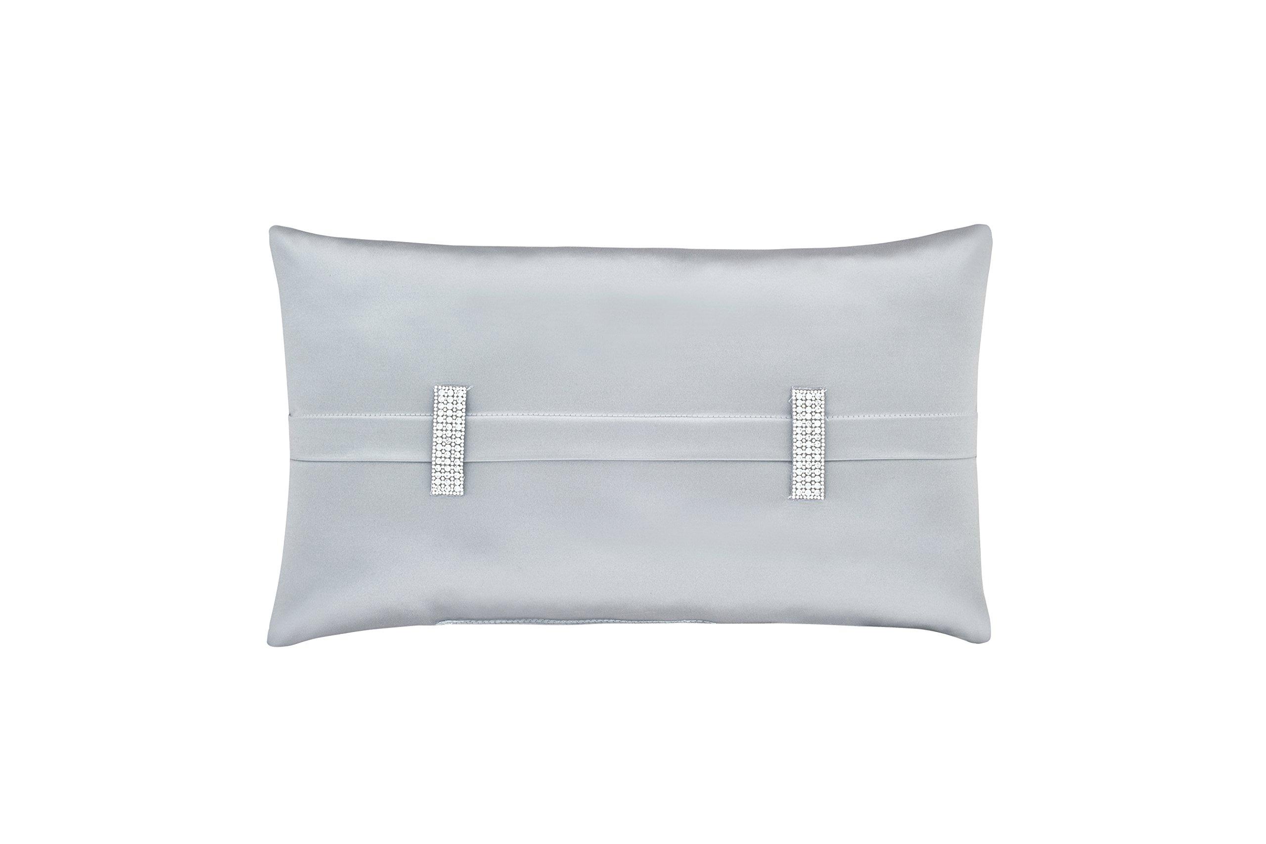 Five Queens Court Saranda Satin Boudoir Throw Pillow, Spa