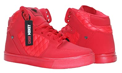Cash Money Sneakers Basket Montante Rouge