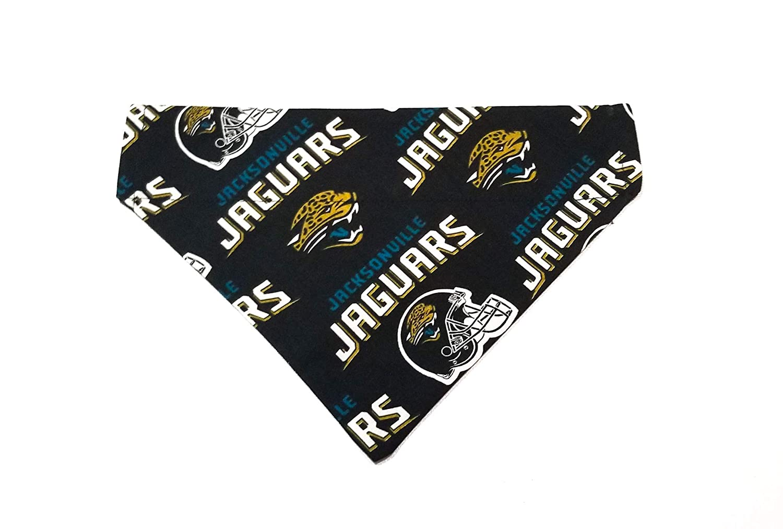 Jacksonville Jaguars Pet No-Tie Dog Bandana Slip On