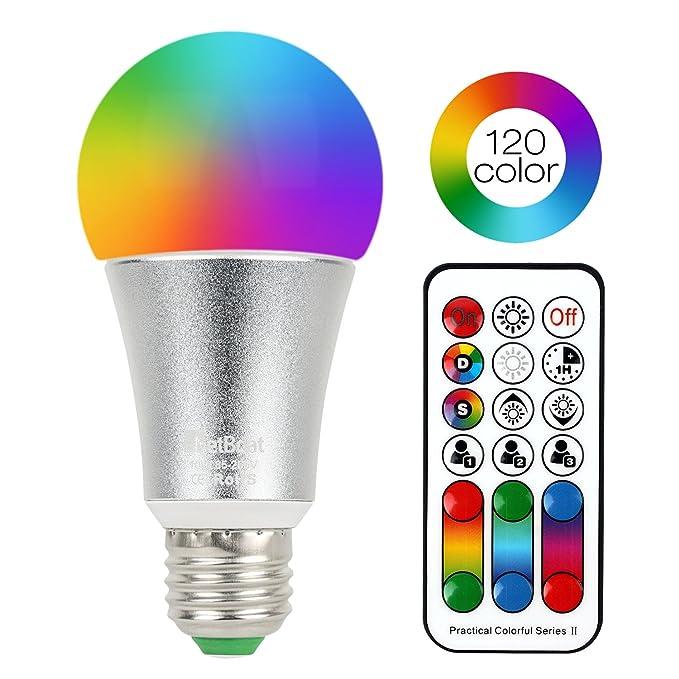 102 opinioni per NetBoat Lampadine LED Colorate,10W E27 Lampada Bulbo Dimerabile con Telecomando