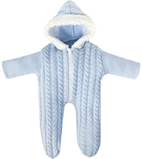 Bayer Design - Pelele de punto con capucha para muñecas, color azul (83869)