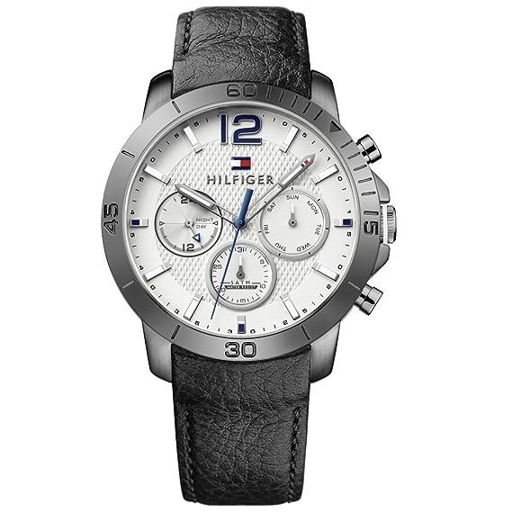 Tommy Hilfiger 1791271 Holden Reloj Reloj de hombre piel pulsera de acero inoxidable 50 m Analog