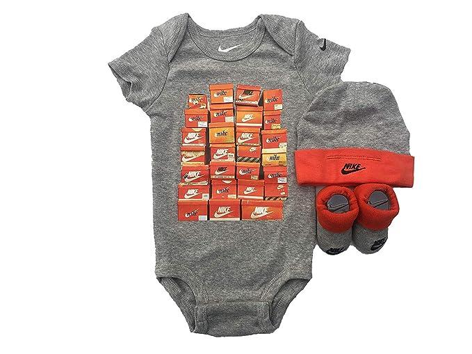 Nike Baby Boys  3-Piece Layette Set - dark gray 2321febcf066