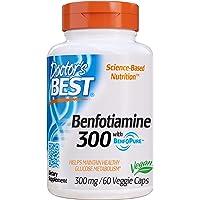 Doctor's Best Benfotiamine, Non-GMO, Vegan, Gluten free, Soy Free, Helps Maintain Blood Sugar Levels, 300 mg, 60 Veggie…