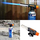 StillCool® Butane Gas Blow Torch Flame thrower Burner Auto Ignition Camping BBQ Burning (Black Flame thrower)