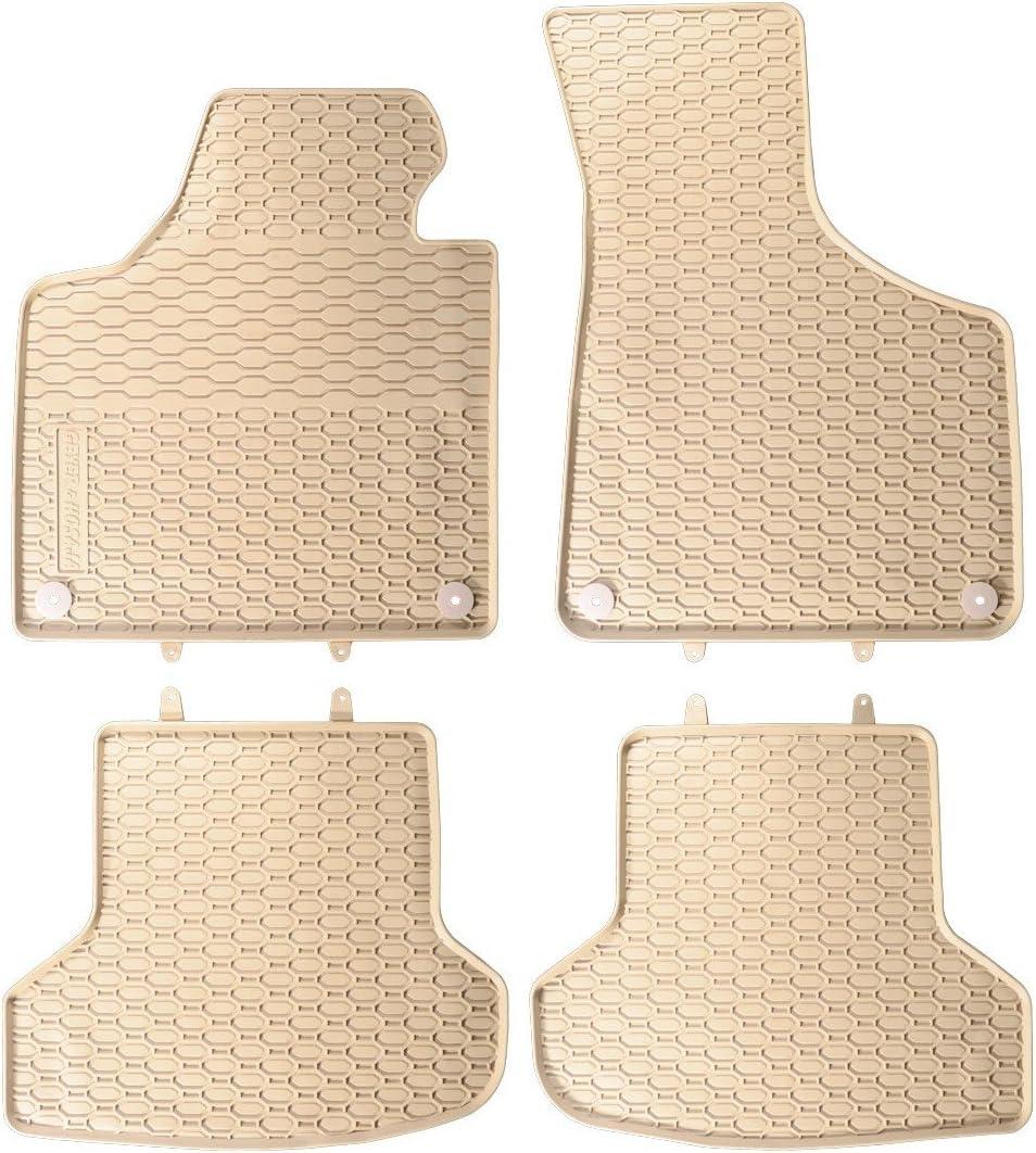 Caoutchouc tapis pour vw passat 3g//b8 à partir de 11//2014 en caoutchouc-tapis de sol avec clips