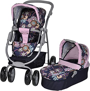 Opinión sobre Knorrtoys 90778 - Coco, coche de paseo para muñecas convertible, diseño de flores [Importado de Alemania]