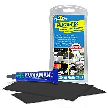 Juego de reparación Flick Fix, de ATG, para cubiertas de plástico, piscinas, de color negro: reparación ...