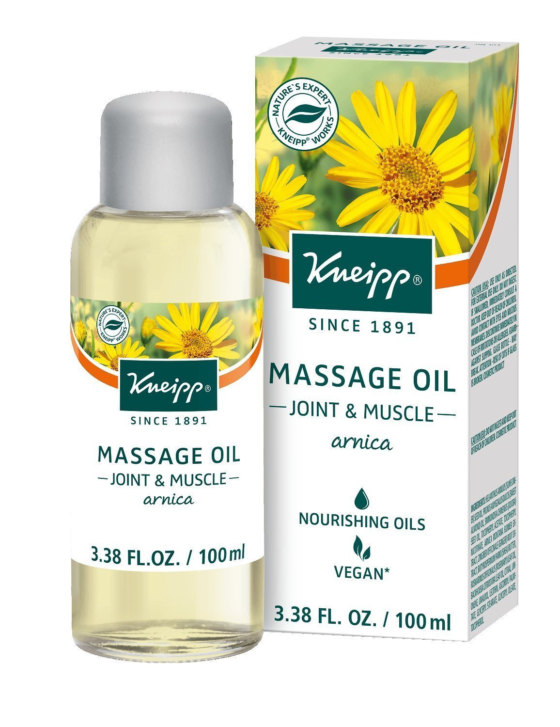 Kneipp Massage Oil, Arnica, Joint & Muscle, 3.38 fl. oz. by Kneipp