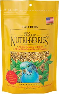 product image for LAFEBER'S Classic Nutri-Berries Pet Bird Food, Made with Non-GMO and Human-Grade Ingredients, for Parakeets (Budgies)
