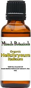 Miracle Botanicals Organic Italian Helichrysum Essential Oil - 100% Pure Helichrysum Italicum - Therapeutic Grade - 30ml