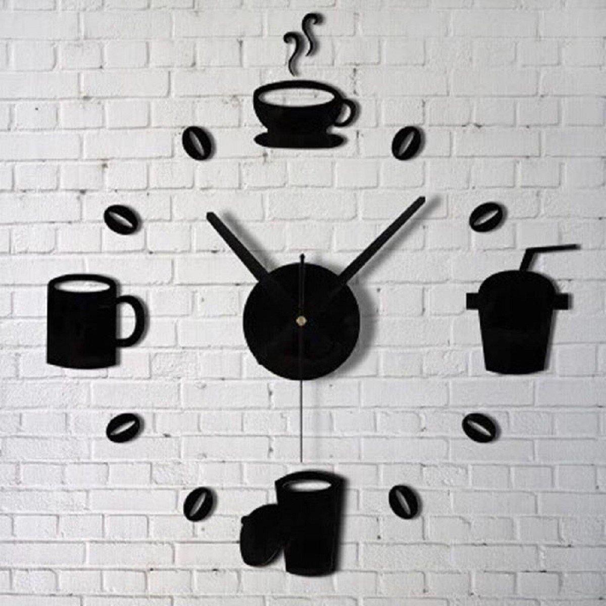 Tongshi Moda acrílico bricolaje auto-adhesivo de pared Decoración interior creativa Reloj: Amazon.es: Hogar