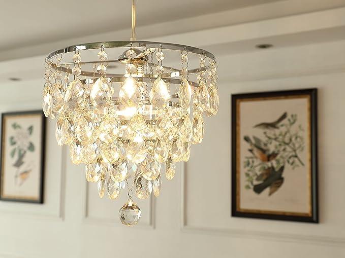 Saint mossi modern crystal goccia di pioggia lampadario