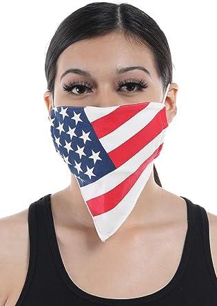 100/% Cotton Face Mask Madein USA Washable Reusable Face Mask Men Birch Bark Camo