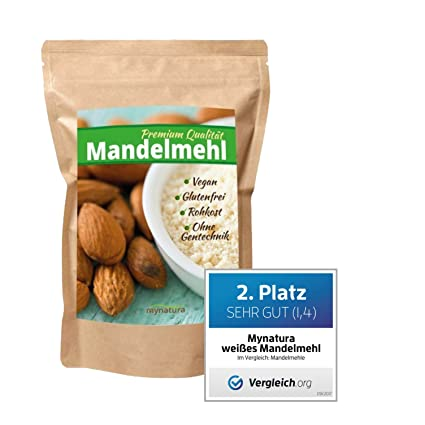 Mynatura - harina molida de almendras blancas 100 % (bajo contenido en carbohidratos, sin