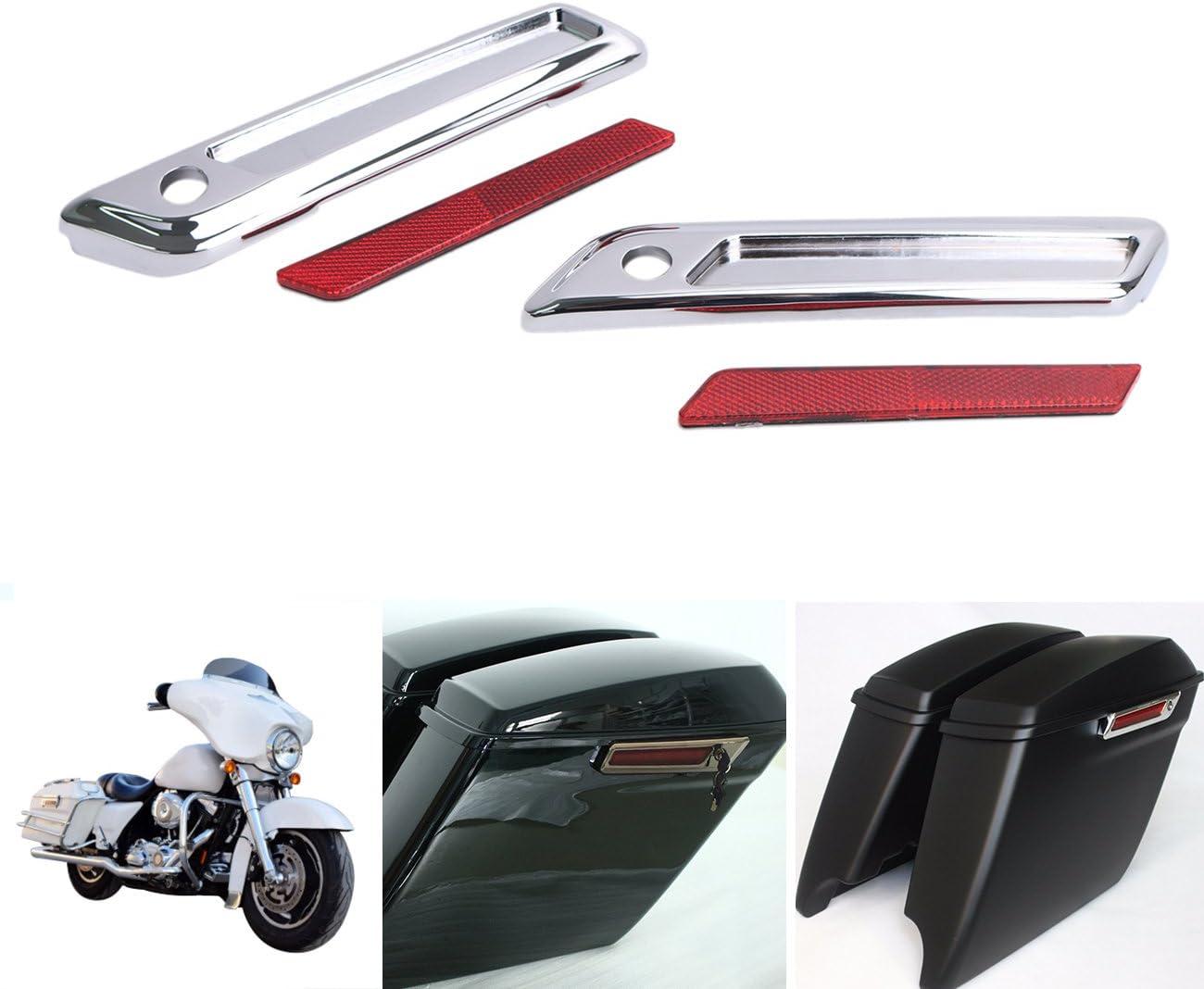 Satteltaschen Reflektor Hinge Latch Covers Für Koffer Satteltasche Harley Touring Street Glide Flht 2014 2015 2016 Auto