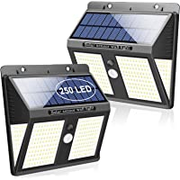 SYOSIN Luz Solar Exterior, 250 LED Sensor Movimiento Lámpara Solar IPX65 Impermeable con Gran Ángulo 270°Luz Nocturna de…