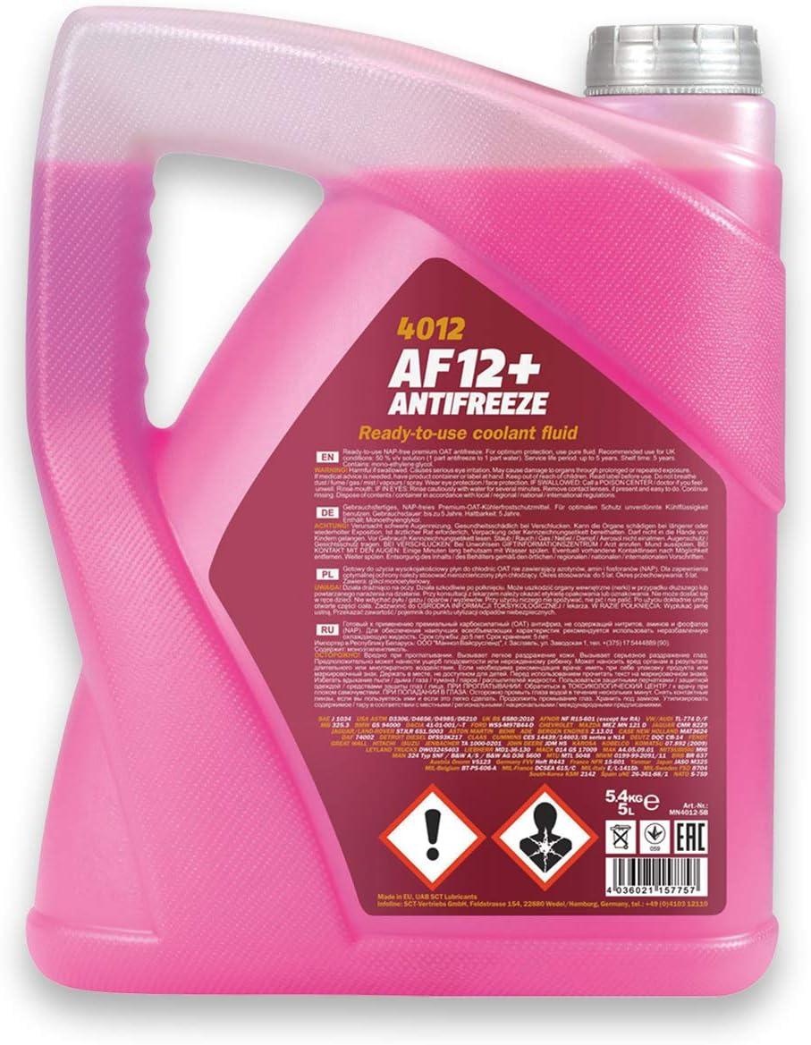 Zahnriemensatz 5L K/ühlerfrostschutz Rot Contitech Wasserpumpe