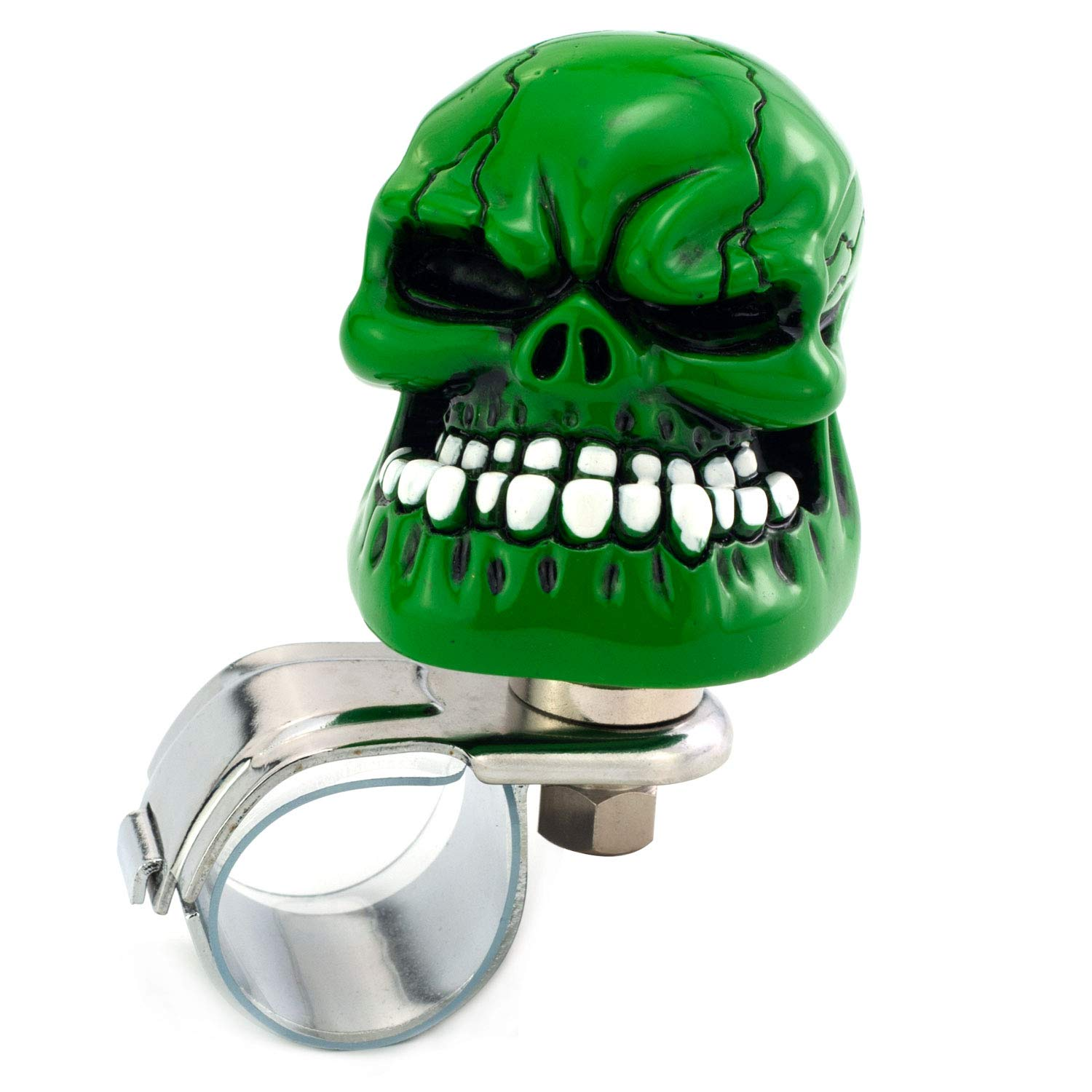 Big Teeth Devil Style Car Power Handle Grip Knobs Fit Most Manual Automatic Vehicles Thruifo Skull Car Steering Knob Suicide Wheel Spinner Blue