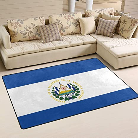 Amazon.com : Ainans El Salvador Flag Area Rug Carpet Non ...