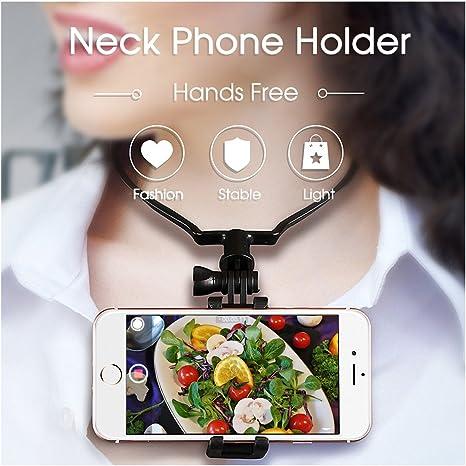 Soporte para teléfono manos libres Streaming – hanging-on cuello ...
