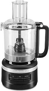 KitchenAid KFP0918BM Easy Store Food Processor, 9 Cup, Black Matte (Renewed)