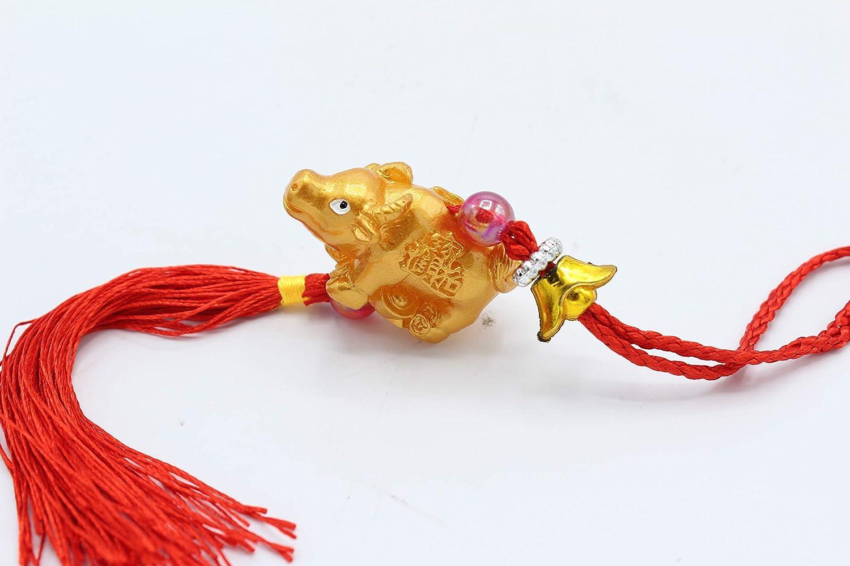 Feng Shui Zodiac Year of Bull Ox Money Bull Ox Tassel Hanging Charm