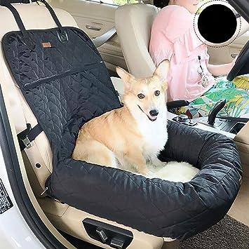 LPY-Cama de perro de viaje suave asiento de coche lavable cálida cesta de lujo de mascotas , Black: Amazon.es: Deportes y aire libre
