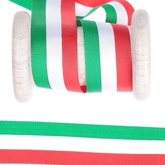 Rollo Cinta bandera italiana – verde blanco rojo 10 mm multicolor: Amazon.es: Hogar