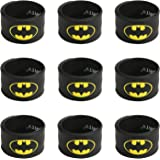 Ecparty Superhero Slap Bracelet for Kids Boys & Girls Birthday Party Supplies Favors (9 pack) (batman)