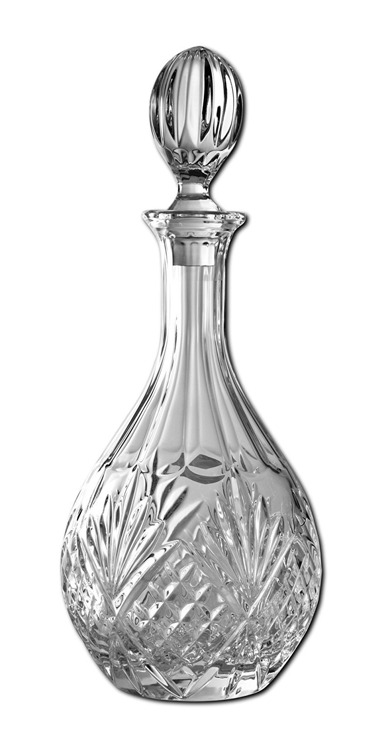 James Scott Crystal Wine and Whiskey round Decanter with Stopper - 850ml