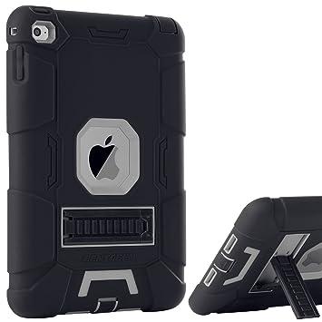 BENTOBEN Funda iPad Mini 4,Funda iPad Mini 5, 3 en 1 Carcasa Combinada Híbrido PC Durable Plegable Silicona Protector con Soporte Trasera Cover Case ...