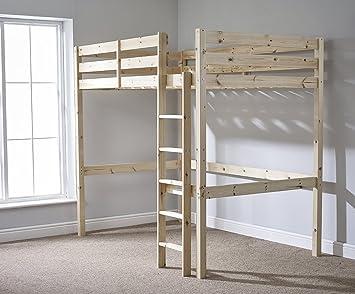 Etagenbett Quba 3 : Amazon loft etagenbett ft double holz hochbett stockbett
