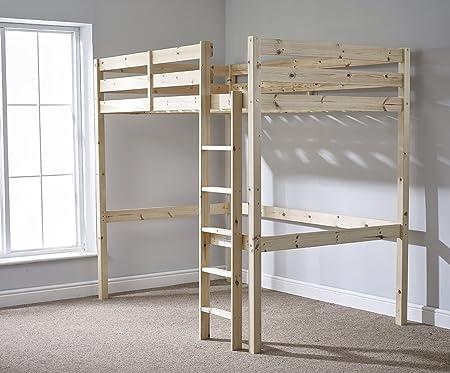 Strictly Beds Memphis Loft Bunkbed Loft Bunk Bed 4ft 6 Double