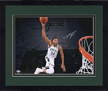 bf54f1c3044d7 Framed Giannis Antetokounmpo Milwaukee Bucks Autographed 16