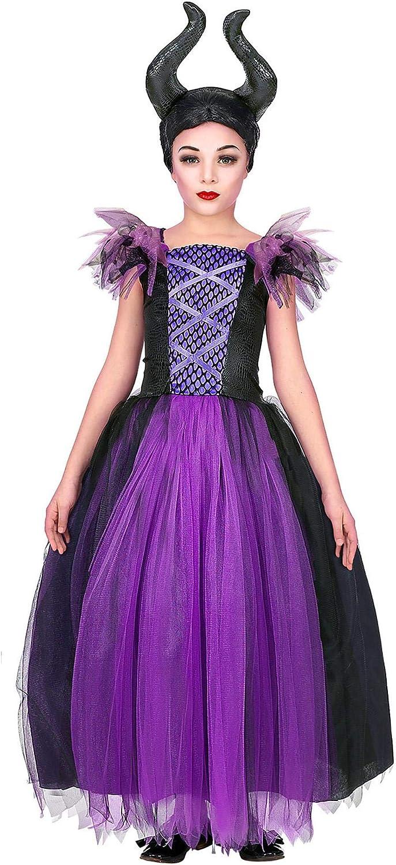 WIDMANN Disfraz de Maléfica Tul para niña M-(8/10 años): Amazon.es ...
