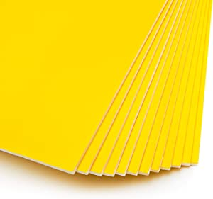 Yellow Foam Boards for Signs, Craft Poster Boards (20 x 30 Inches, 12-Pack)